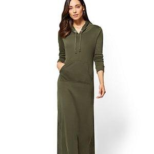 NEW YORK & COMPANY SWEATER DRESS IN BURGUNDY MED
